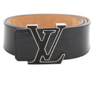 Louis Vuitton Black Epi Leather Belt